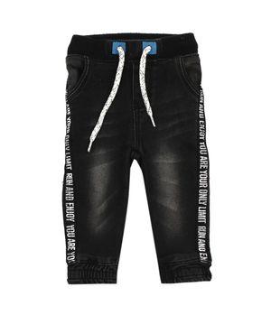 Jeans Jogger Free Style Bebé Niño Negro 3 A 24 Meses