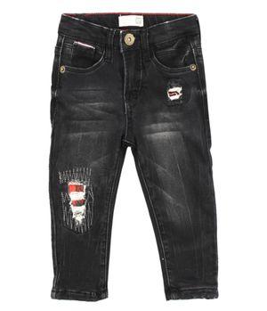 Jeans Skinny London Rock Bebé Niño Negro 3 A 24 Meses