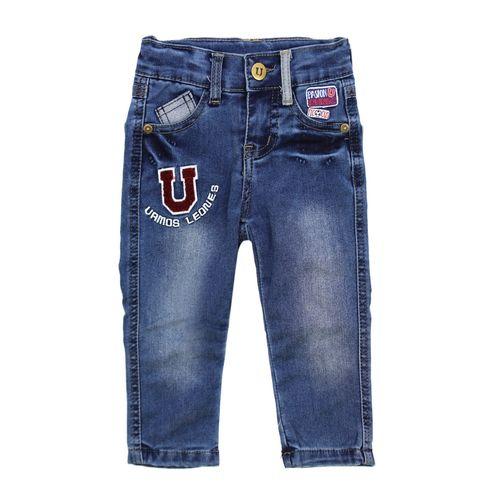 Jeans Vamos Leones Bebé Niño Azul 3 A 24 Meses