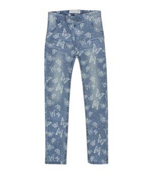 Jeans Skinny Estampada Be Yourself Kids Niña Celeste 2 A 6 Años
