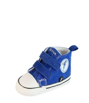 Bota 2 Velcros Soft Bebé Niño Azulino 3 A 12 Meses