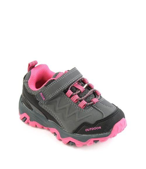 Zapatilla Outdoor Velcro A Caminar Kids Niña Gris 2 A 6 Años