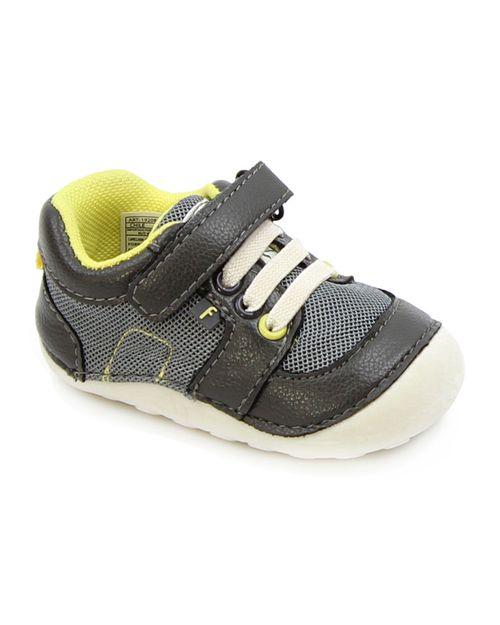 Zapatilla Elastico Velcro A Gatear Bebé Niño Gris 3 A 24 Meses