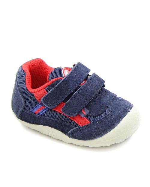 Zapatilla 2 Velcros A Gatear Bebé Niño Azul 3 A 24 Meses