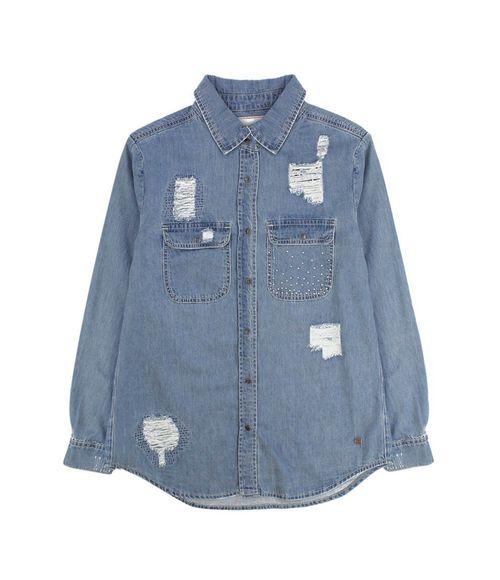 Blusa Jeans Be Free Teens Niña Celeste 12 A 14 Años