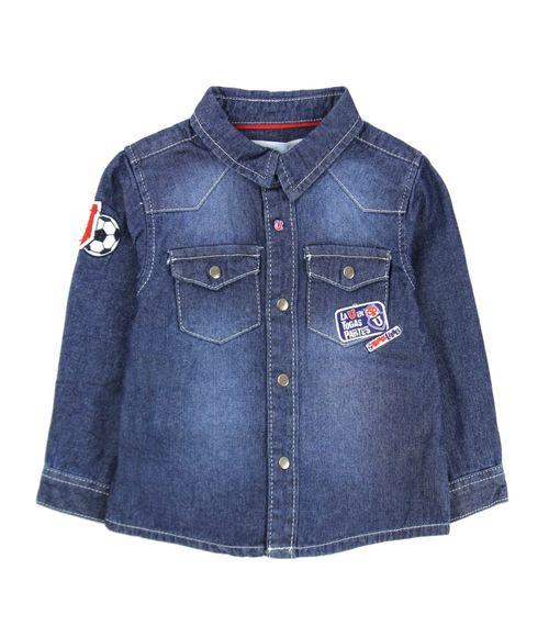 Camisa Bebé Niño Azul 3 A 24 Meses
