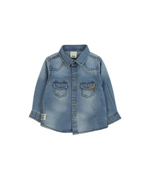 Camisa Jeans Just Denim Bebé Niño Azul 3 A 24 Meses