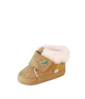 Zapatilla Velcro Soft Bebé Niña Beige 3 A 12 Meses