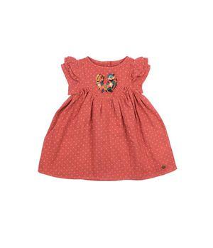 Vestido Savage Bebé Niña Coral 3 a 24 Meses