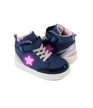 Zapatilla Con Luces Power Light Kids Niña Azul 2 a 6 años