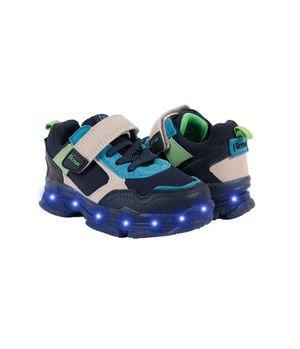 Zapatilla Velcro y Elástico Power Light Kids Niño Azul 2 a 6 años