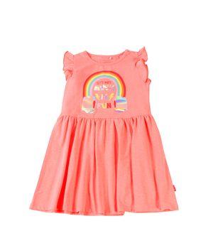 Vestido Day To Day Kids Niña CoralNeon 2 a 6 años