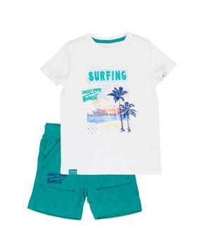 Conjunto Surfers Kids Niño Blanco 2 a 6 años