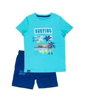 Conjunto Surfers Kids Niño Esmeralda 2 a 6 años